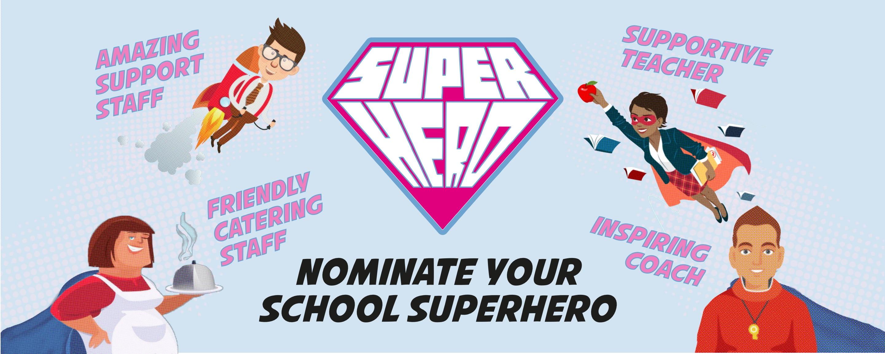 School Superhero banner